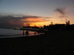 厦大白城海滩夜景